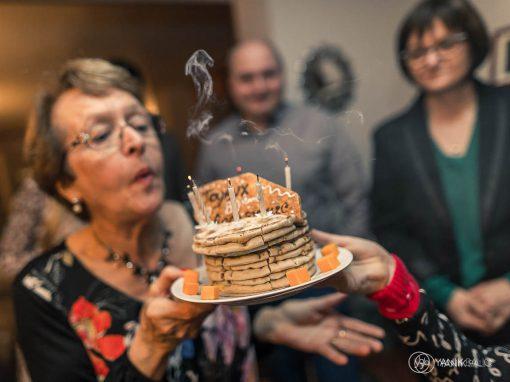 Reportage photo pour les 80  ans de Jacqueline à Tressin