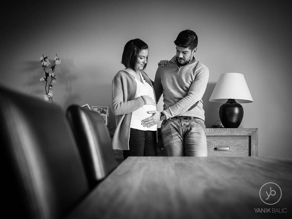 Séance photo de grossesse à domicile