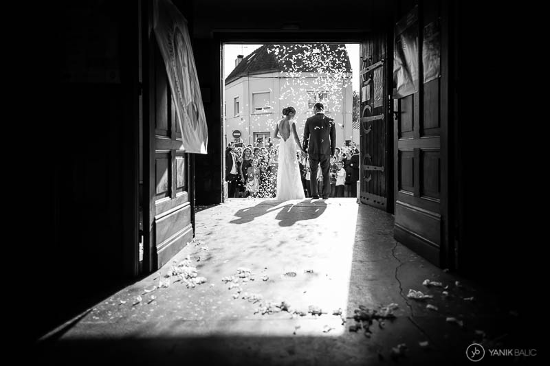 reportage mariage sur le vif à l'église