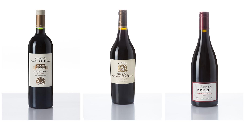 Packshot bouteille de vin