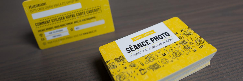 Carte cadeau pour séance photo
