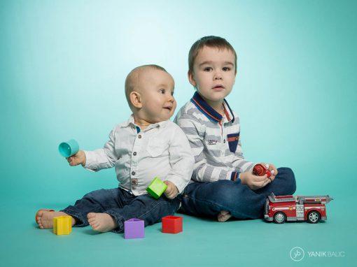 Séance photo à domicile à Baisieux avec deux enfants